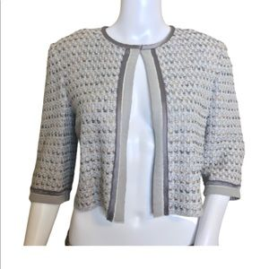 St. John Couture Boucle Cropped Jacket Size 4